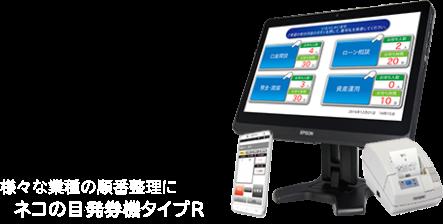様々な業種の順番整理にネコの目システム発券機タイプR
