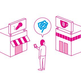 [イメージ図]ネットカフェという選択はあるが、どの店が良いのかわからない。